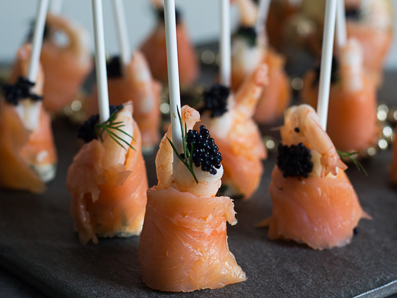 smoked salmon lollipops - New Years Eve party food ...