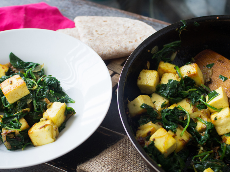 Saag paneer. A superb Indian supper or sumptuous side dish