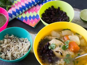 Mexican chicken soup; a delicious and easy one pot meal