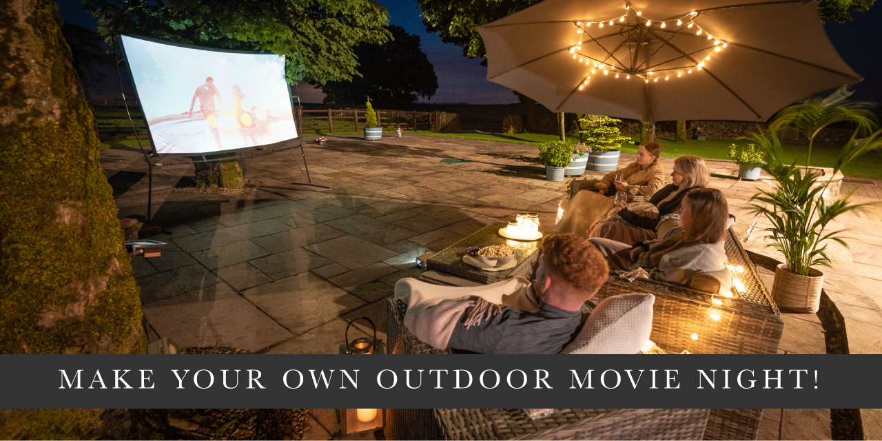 Make your own outdoor movie night